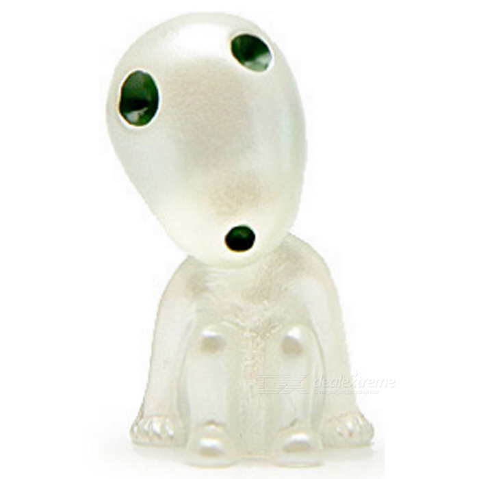 Head Up Sit Kodama Style Luminous Tree Gardening Pot Decorative Doll