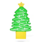 USB 3.0 Cartoon Christmas Tree Flash Drive 8GB - Green + Yellow