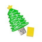 USB 3.0 cartoon árvore de natal flash drive 32GB - verde + amarelo