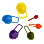 6 PCS Plastic Colorful Kitchen Measuring Spoons - Multicolor