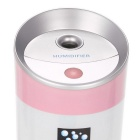 3-in-1 300mL Mulitfunction Humidifier for Home / Office - White + Pink