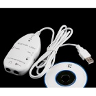 USB to 3.5mm Guitar Cable Line Adapter - White
