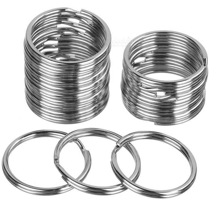 25mm Round Metal Iron Split Key Rings - Silver (20 PCS)Keychains<br>Form  ColorSilverMaterialIronQuantity20 DX.PCM.Model.AttributeModel.UnitPacking List20 * Keychains<br>