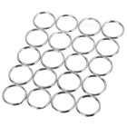 20mm Round Metal Iron Split Key Rings - Silver (20 PCS)