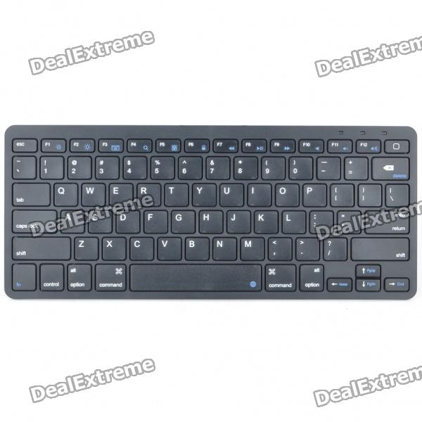 81-Key Slim Portable Rechargeable Bluetooth Wireless Keyboard - Black