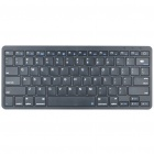 78-Key Slim Portable Rechargeable Bluetooth Wireless Keyboard - Black