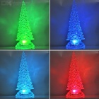 Acrylic Colorful Light Decorative Large Christmas Tree - Transparent