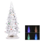 Acrylic Colorful Light Decorative Small Christmas Tree - Transparent