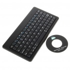 84-Key Slim Portable Rechargeable Bluetooth Wireless Keyboard - Black (2 x AAA)