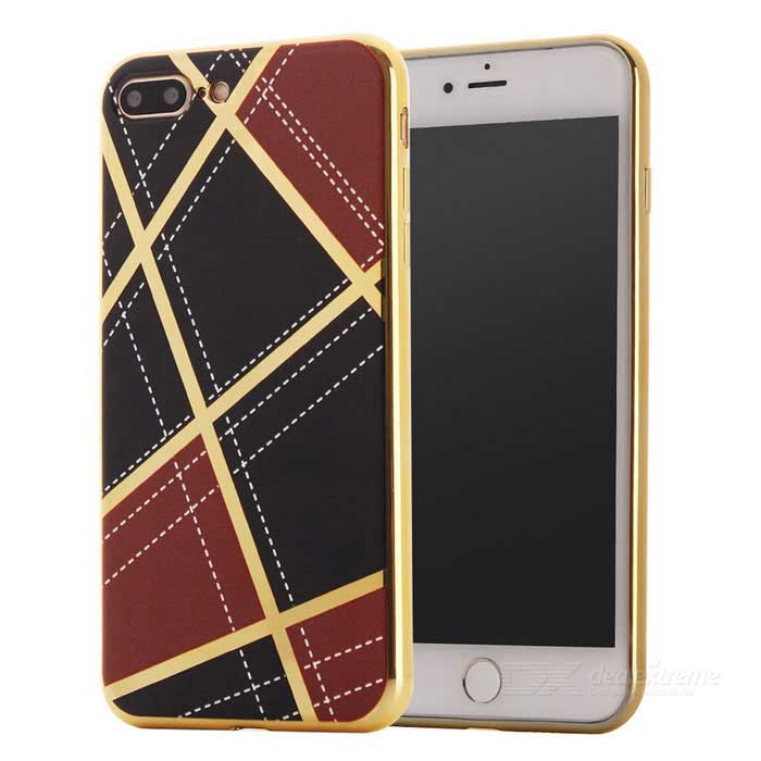 Geometric Pattern TPU Protective Case for IPHONE 7 PLUS - Dark Brown