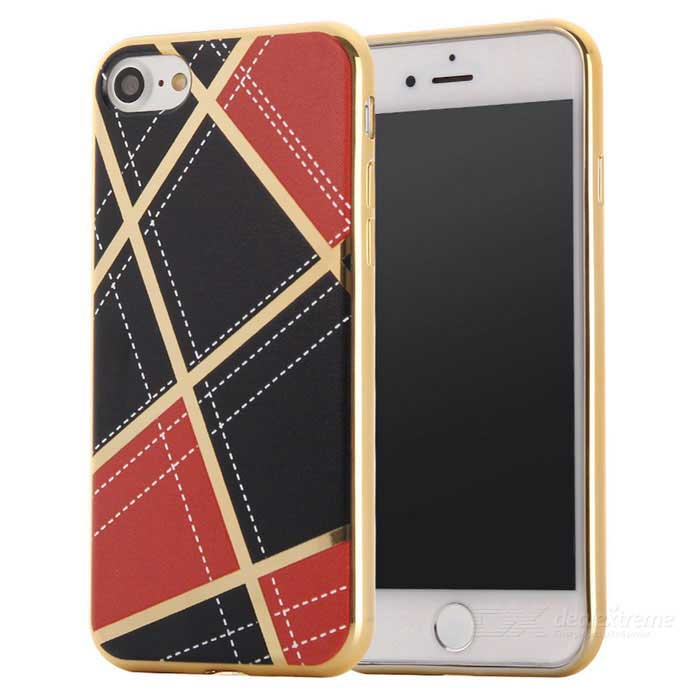 Geometric Pattern TPU Protective Case Back Cover for IPHONE 7 - Orange