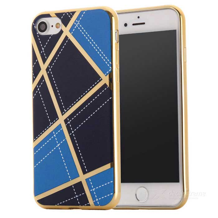 Geometric Pattern TPU Protective Case Back Cover for IPHONE 7 - Blue