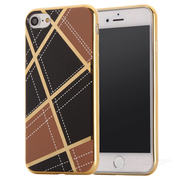 Geometric Pattern TPU Protective Case for IPHONE 7 - Light Brown