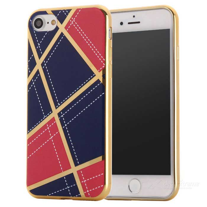 Geometric Pattern TPU Protective Case Back Cover for IPHONE 7 - Red