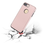 Premium Dual Layer PC + TPU Case for iPhone 7 PLUS - Black + Rose Gold