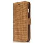 Mesh PC + PU Flip Wallet Case for iPhone 7 Plus - Brown