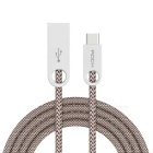 ROCK Cobblestone USB to Type-C Round Data Cable - Light Coffee (100cm)
