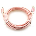 USB 3.1 Type-C to USB 2.0 Nylon Braided Data Cable - Pink (3m)