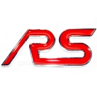 Car Pure Metal RS Character Sports Version Label - Red + Silver