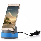 Micro USB Mobile Phone Charging Dock for Samsung / Xiaomi - Blue+ Gray