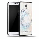 3D Three Dimensional Embossed Black Edge Case for Redmi Note 3 - White