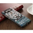 3D Three Dimensional Embossed Case for Redmi Note 4 - Black + Blue