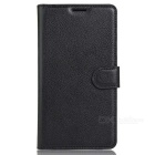Lichee Pattern Flip-Open PU Leather Case for Google Pixel - Black