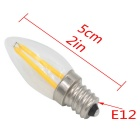 E12 mini 2W 2-LED lámpara caliente blanco 3000K 180lm (220 ~ 240V)