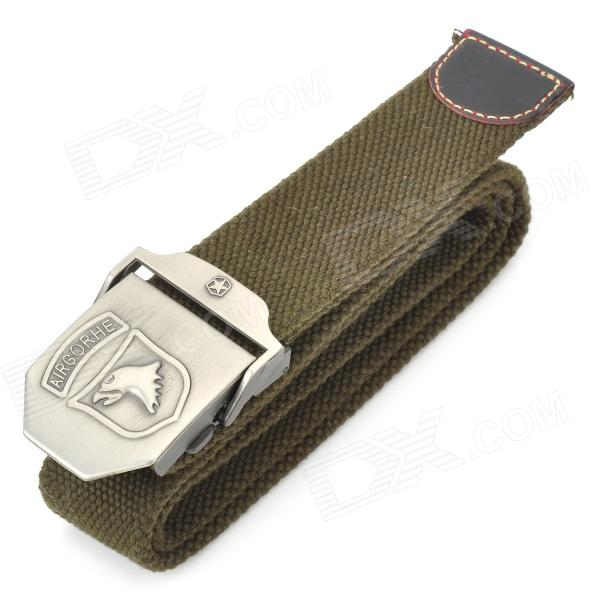 TOUGH Men Free Size Durable Belt with Metal Buckle - Eagle (120CM-Length)