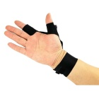 Multifunction 2-LED Light Right Hand Breathable 2-Finger Glove - Black