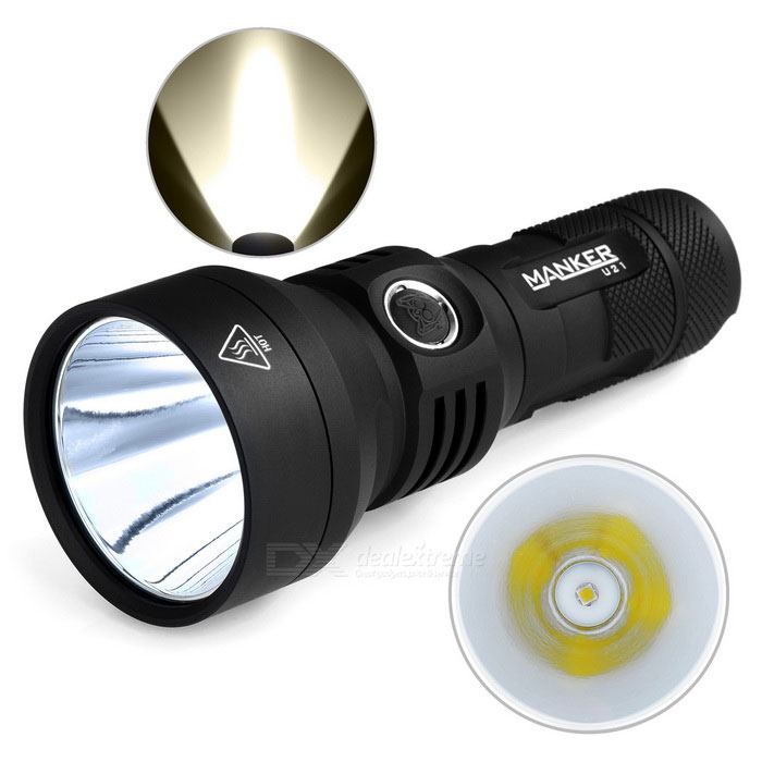 MANKER U21 XHP35 HI 7-Mode 1300lm Neutral White Flashlight - Black