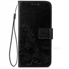 PU Leather Wallet Case w/ Card Slots for Google Pixel XL - Black