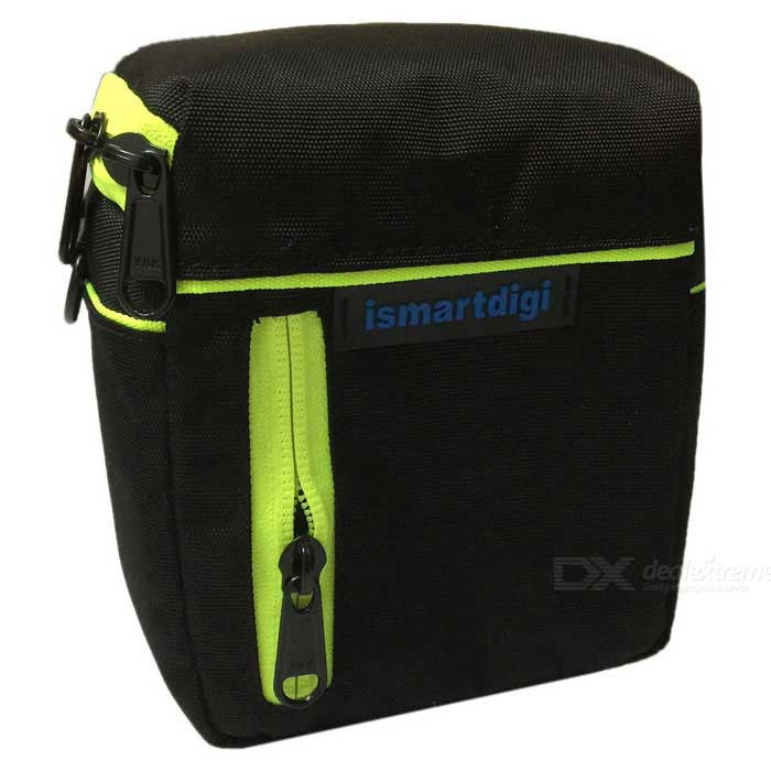 Ismartdigi i107 GN Shoulder Bag for All Mini DSLRs DVs - Black + Green