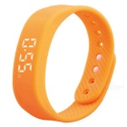 DMDG Smart Sport 3D Pedometer Wristband Watch Bracelet - Orange