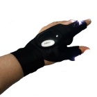 Multifunction 2-LED Light Left Hand Breathable 2-Finger Glove - Black