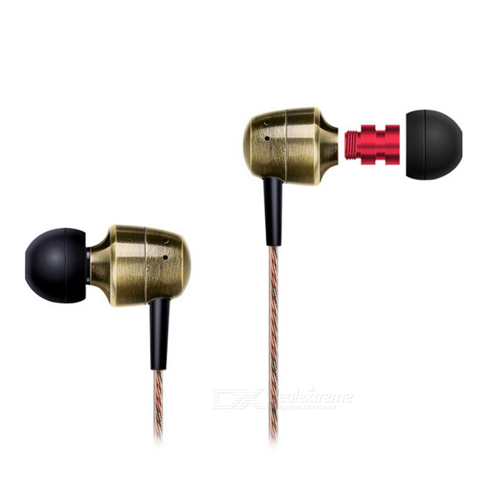 KZ GR Dual Musical Style HIFI Stereo Wired Earphone - Black + Copper