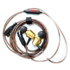 KZ GR Dual Musical Style HIFI Stereo Wired Earphone w/ Mic - Copper