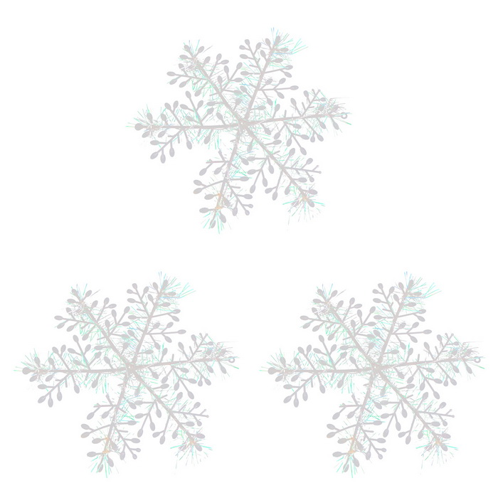3D ABS Snowflakes for Christmas Decoration (3 PCS / 14cm)