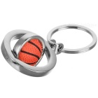 360 Degree Rotation Basketball Plating Zinc Alloy KeyRing