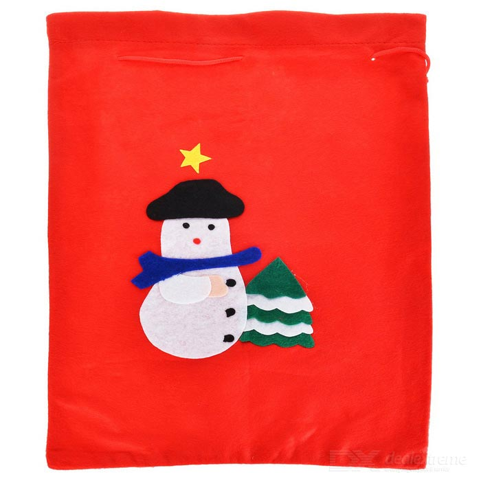 Snowman Pattern Christmas Decorative Bag / Gift Storage Pocket Pouch