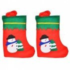 Christmas Decorative Non-Woven Fabric Socks / Gift Bags (1 Pair)