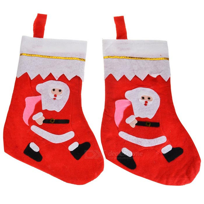 Christmas Decorative Non-Woven Fabric Socks / Gift Bags (2 PCS)Christmas Gadgets<br>Form  ColorRed + PinkMaterialNon-woven fabricQuantity1 DX.PCM.Model.AttributeModel.UnitSuitable holidaysChristmasPacking List2 * Socks<br>