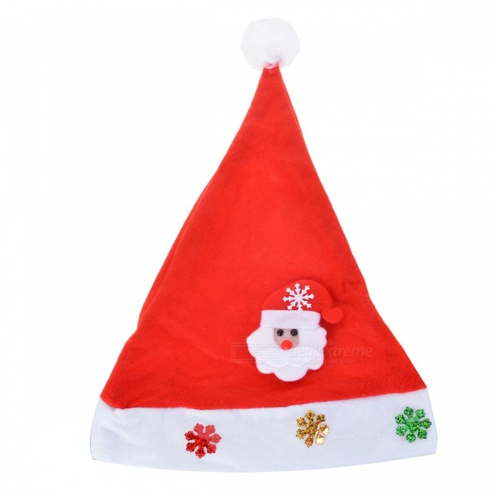 Deer Head Pattern Hat for Christmas Decoration - Red + White