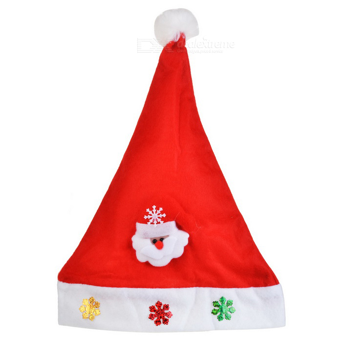 Santa Claus Pattern Hat for Christmas Decoration - Red + WhiteChristmas Gadgets<br>Form  ColorRed + MulticoloredMaterialNylonQuantity1 DX.PCM.Model.AttributeModel.UnitSuitable holidaysChristmasPacking List1 * Hat<br>