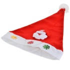 Santa Claus Pattern Hat for Christmas Decoration - Red + White