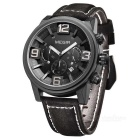 MEGIR 3010 Men's Quartz Analog Wrist Watch - Black