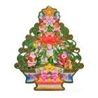 3D Merry Christmas Tree Decorative Stickers - White +Green (28 * 21cm)
