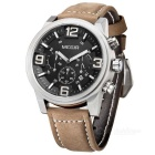 ML3010GBN-1 Leather Band Alloy Case Watch w/ Sub-dial for Decoration