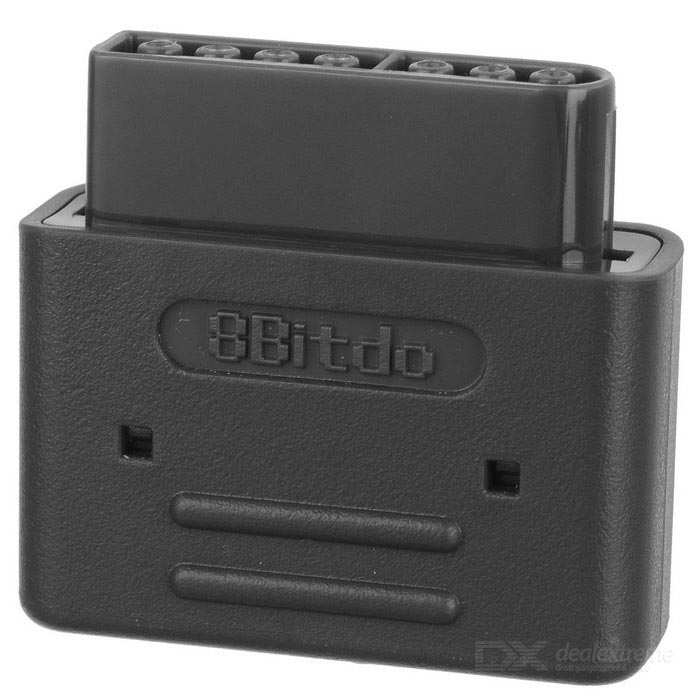 8Bitdo Wireless Bluetooth Retro Receiver for SNES / SFC - BlackGame Gadgets<br>Form  ColorBlackModelSNES/SFCQuantity1 DX.PCM.Model.AttributeModel.UnitMaterialPlastic shellShade Of ColorBlackCompatible ModelsAll 8Bitdo controllers and arcade sticks, PS3, PS4, Wii Mote, Wii U ProCompatible SystemOthers,All 8Bitdo controllers and arcade sticks, PS3, PS4, Wii Mote, Wii U ProRootNoPacking List1 * Retro Receiver1 * Charging Cable<br>