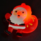 Insignias / broches que destellan del látex 5PCS 3-LED para la Navidad - rojo + blanco